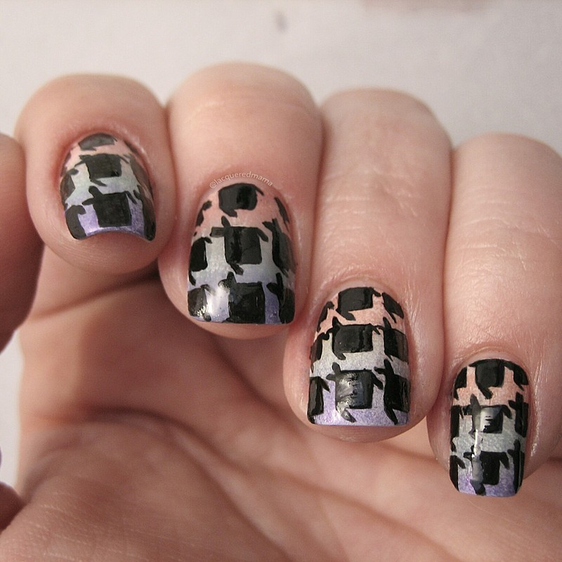 Houndstooth nail art by Jennifer Collins