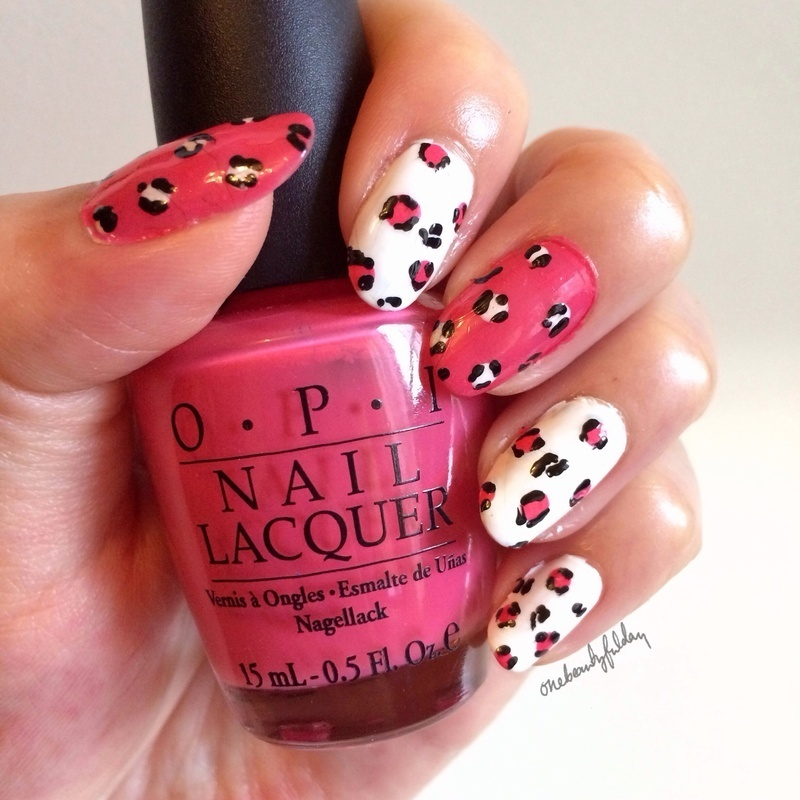 Pink leopard nail art by onebeautyfulday
