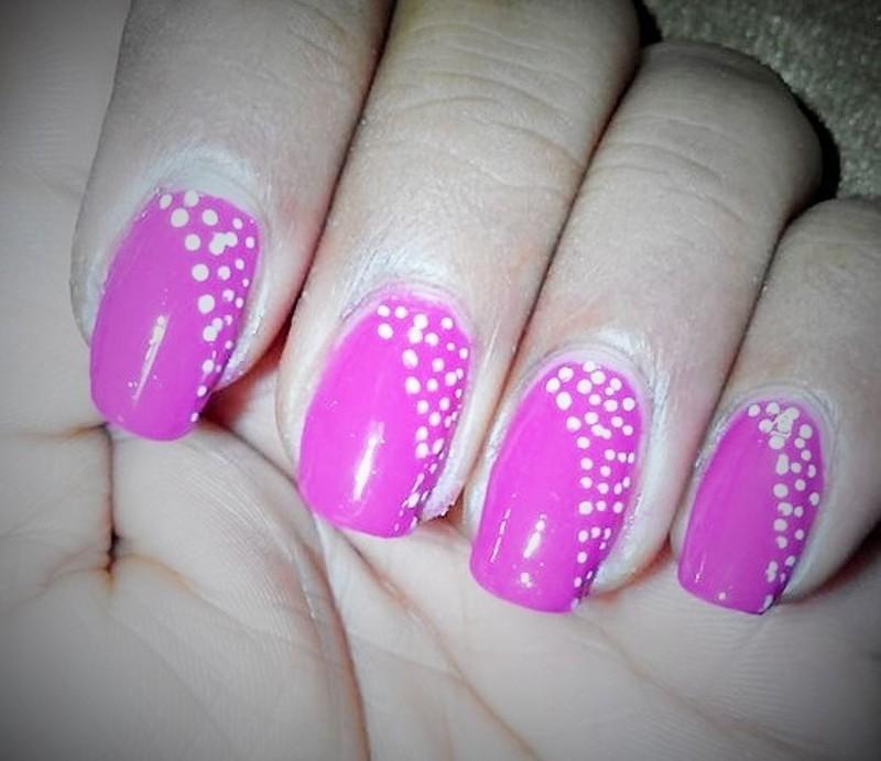 Pink Nails nail art by Nailfame