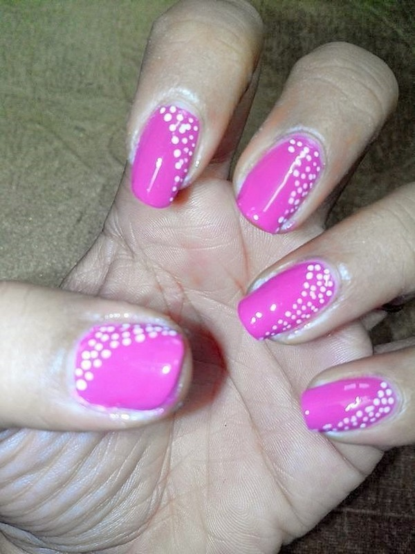 Pink Nails nail art by Nailfame