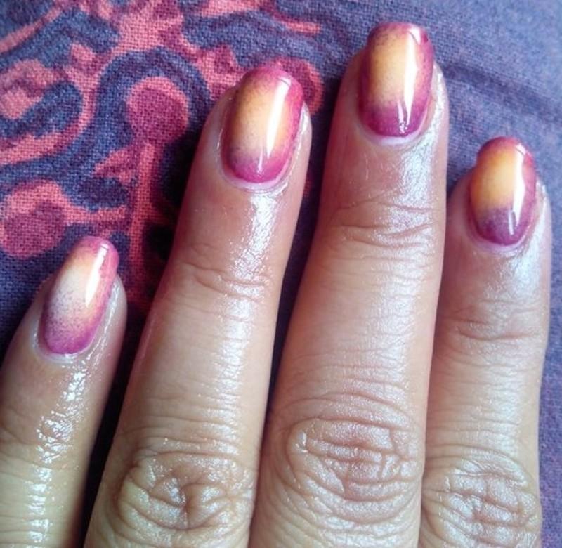 Gradient Nails  nail art by Nailfame