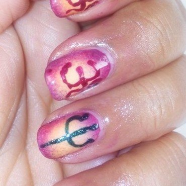 Gradient Nails - Maha Shivratri Special nail art by Nailfame