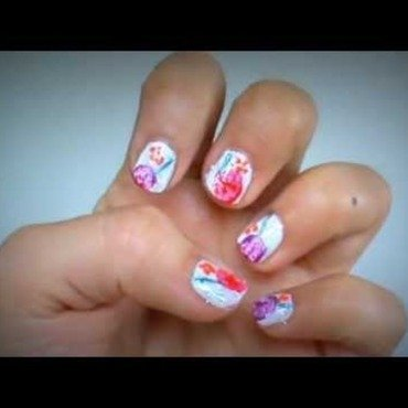 Oil Canvas Nail Art with Veggies nail art by Tina Rai Pun