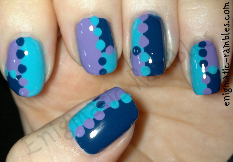 Patchwork Dotticure nail art by Enigmatic Rambles