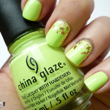 China Glaze grass is lime greener Swatch by Maria