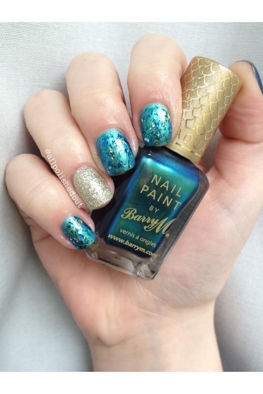 Mermaid nail art by allpolishedout