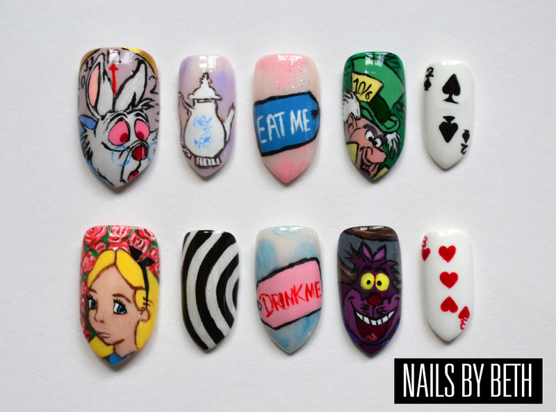 Alice in Wonderland nail art by Bethany Drewe - Nailpolis: Museum of ...