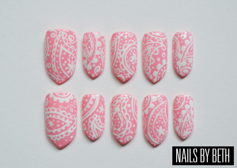 Paisley nail art by Bethany Drewe
