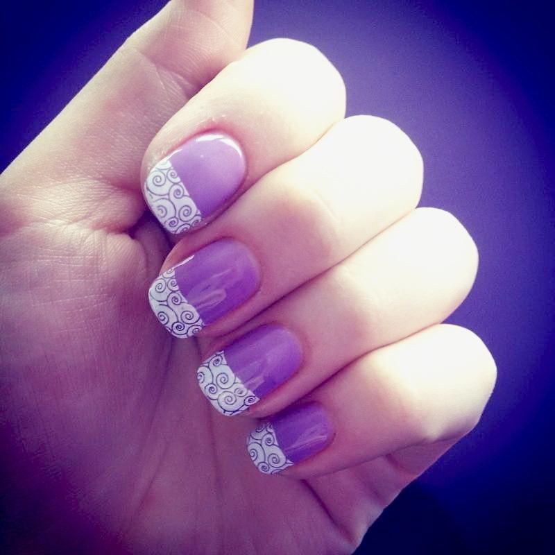 Easy&elegant nail art by Anna Malinina