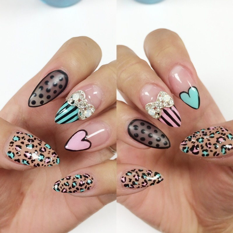 Girlyness nail art by Elaine