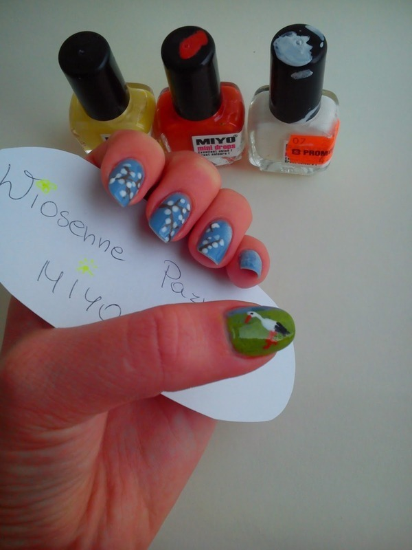 Continuation of the spring nails nail art by Pulinka