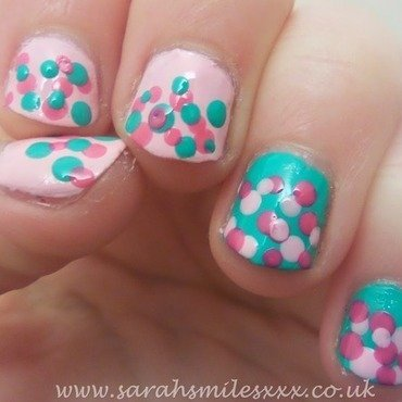 Spring Dotticure nail art by Sarah Clarke