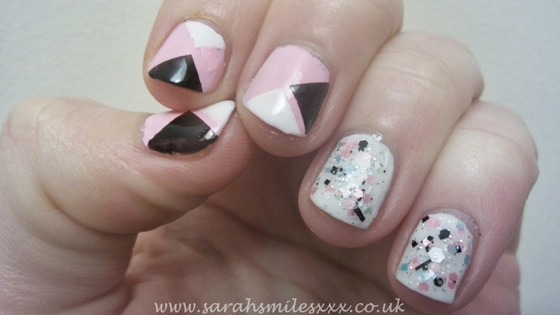 Simple Geometric nail art by Sarah Clarke