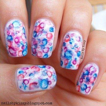 Watercolour Nails! nail art by Kizzy