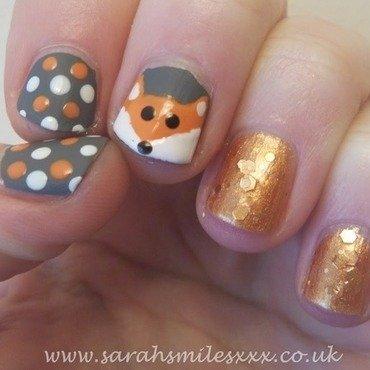 Foxy! nail art by Sarah Clarke