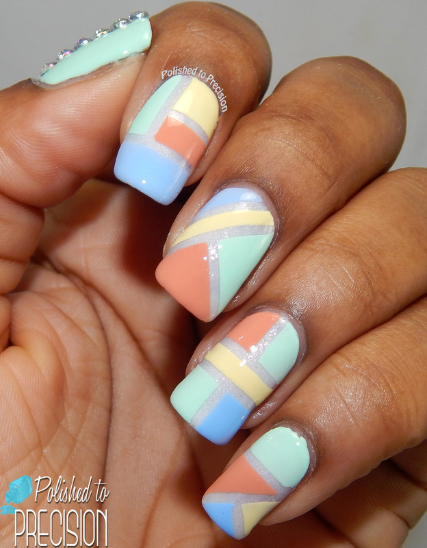 Pastel Color Blocking nail art by Tiffany  (Polished to Precision)