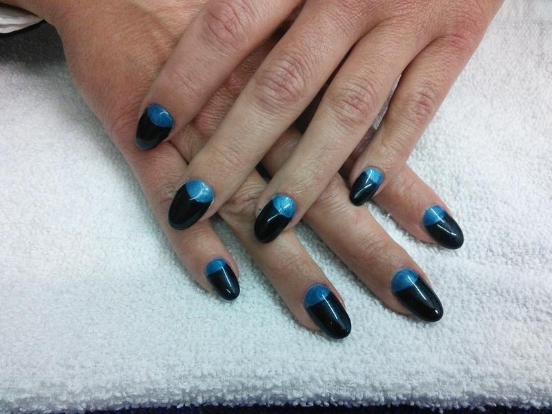 blue moon nail art by Rachel Millican