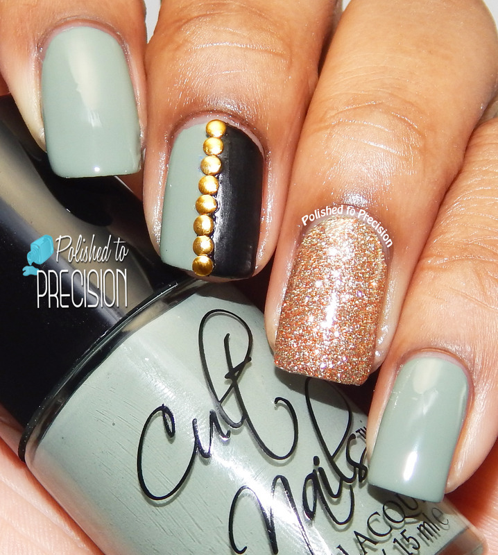 Grungy Glam nail art by Tiffany  (Polished to Precision)
