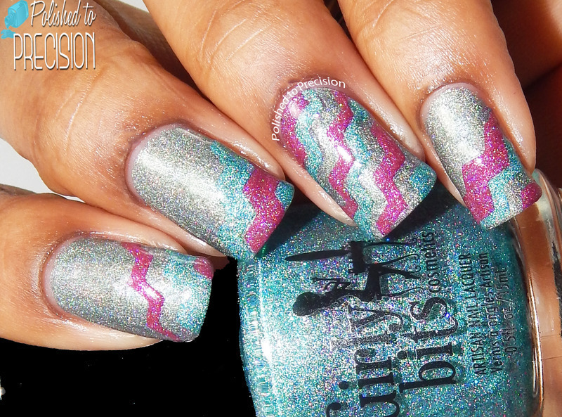 Zig Zag Holo Hotness! nail art by Tiffany  (Polished to Precision)