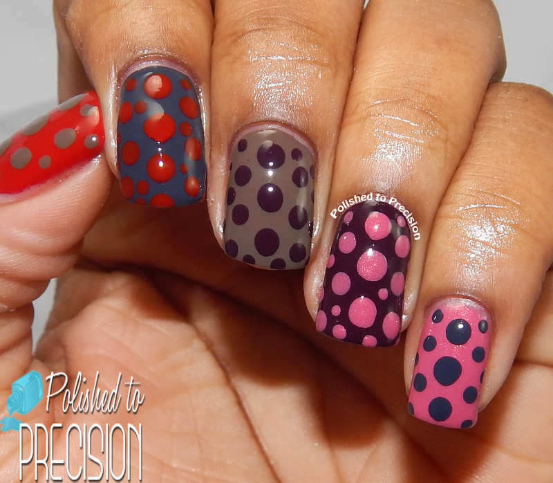 Skittles Dotticure nail art by Tiffany  (Polished to Precision)