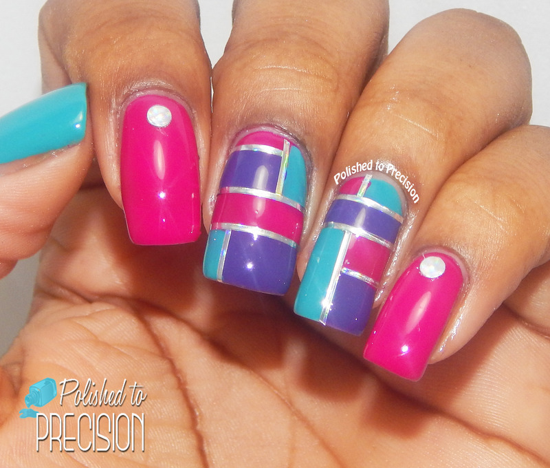 Vibrant Color Blocking nail art by Tiffany  (Polished to Precision)