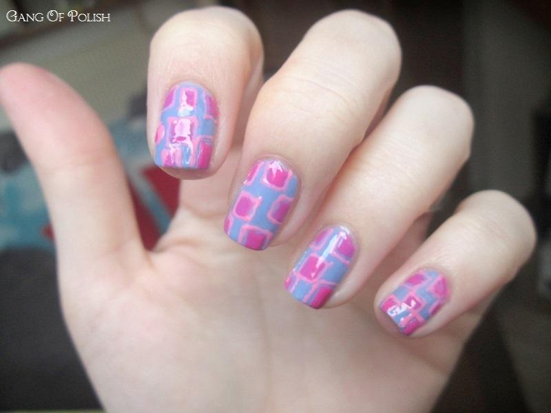 Geometric Candy nail art by Gang Of Polish