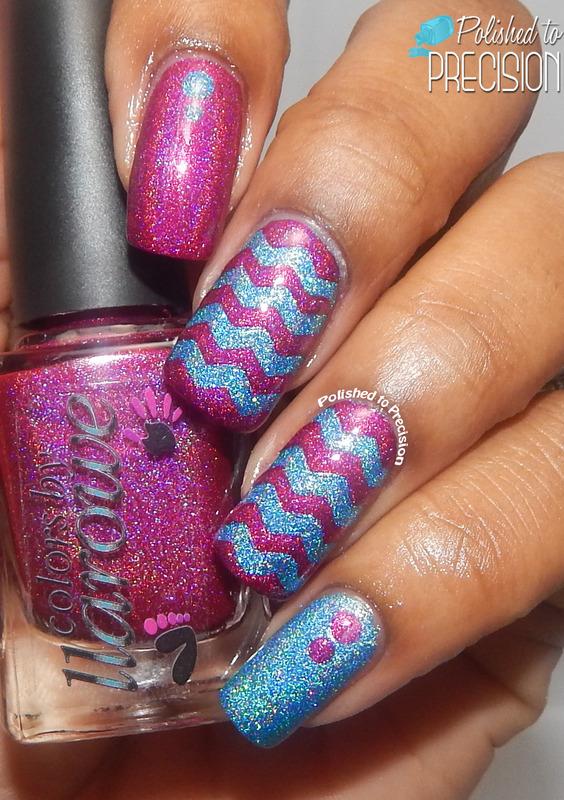Chevron Glaze nail art by Tiffany  (Polished to Precision)