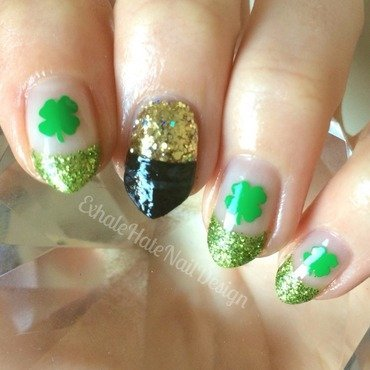 St. Patrick's Day nail art by Courtney Haines