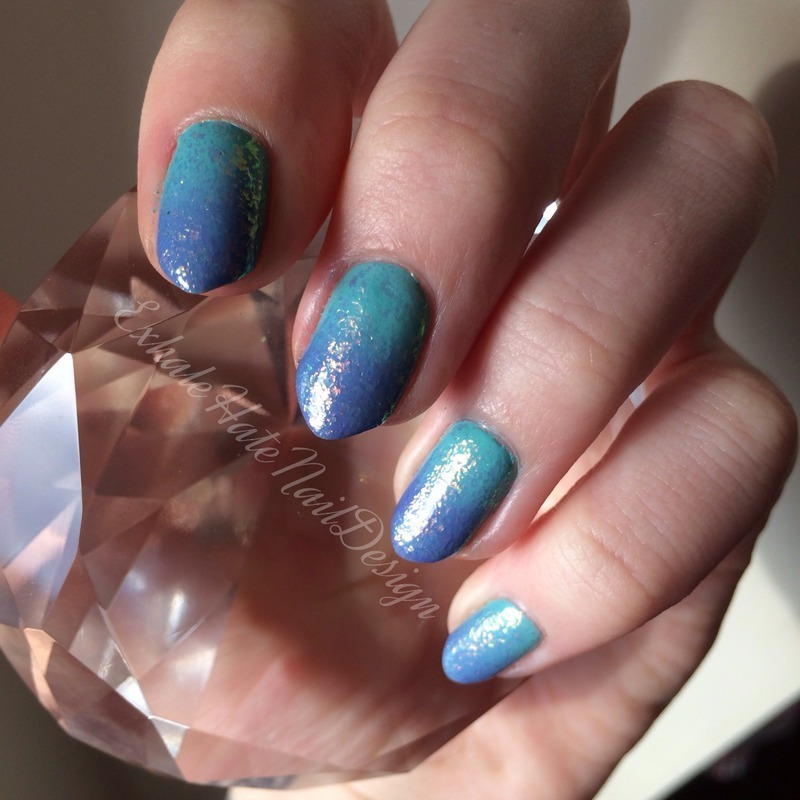 Gradient nail art by Courtney Haines