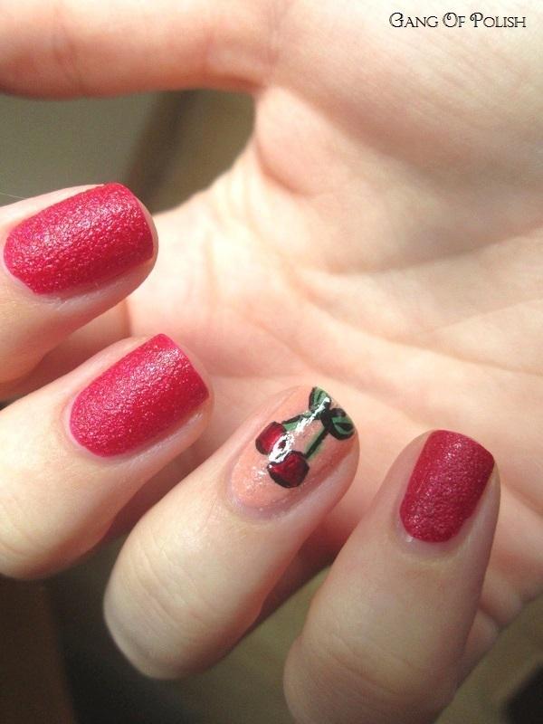 My Little Cherry nail art by Gang Of Polish