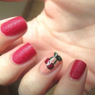 My Little Cherry nail art by Gang Of Polish
