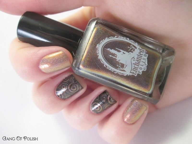 Enchanted Stamping nail art by Gang Of Polish