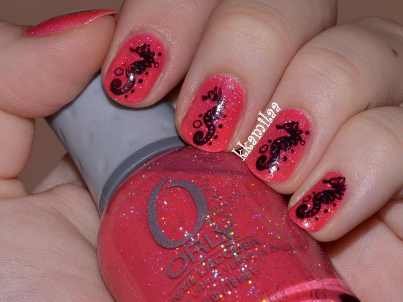 Pink Sands nail art by Kamila