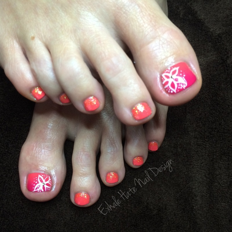 Tropical pedicure nail art by courtney haines nailpolis museum tropical pedicure nail art by courtney haines prinsesfo Choice Image