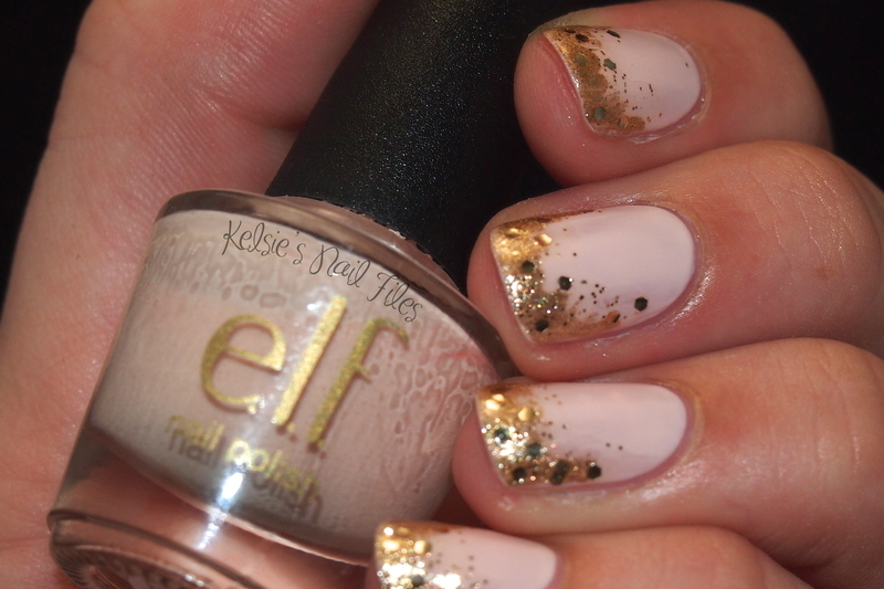 All that gradients is gold nail art by Kelsie