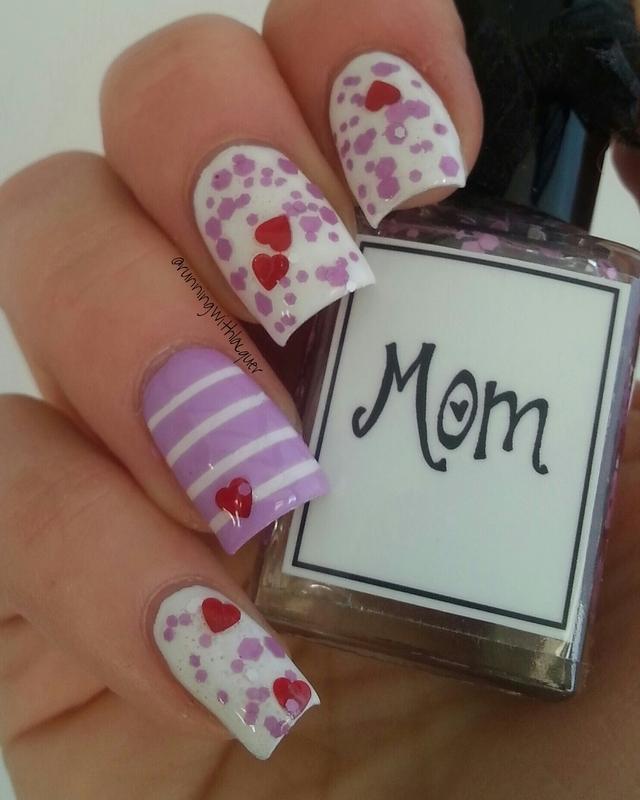 Mom nail art by Debbie D