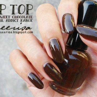 Tip Top Nail Addict Sweet Chocolate Swatch by Lacqueerisa