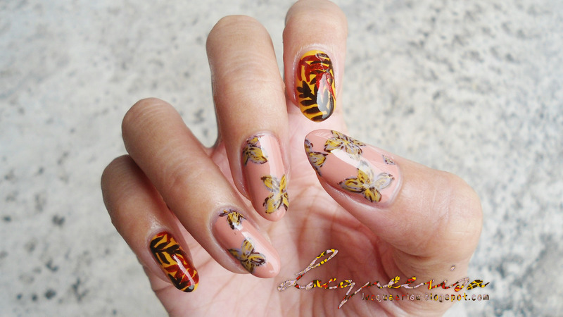Spring/Fall Nail Art nail art by Lacqueerisa