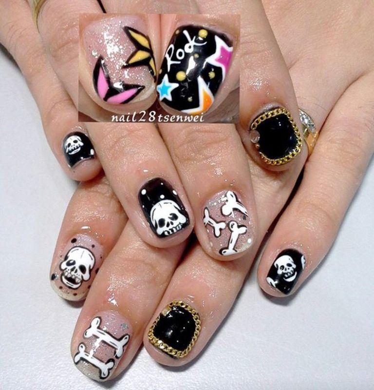 rock nail art by Weiwei