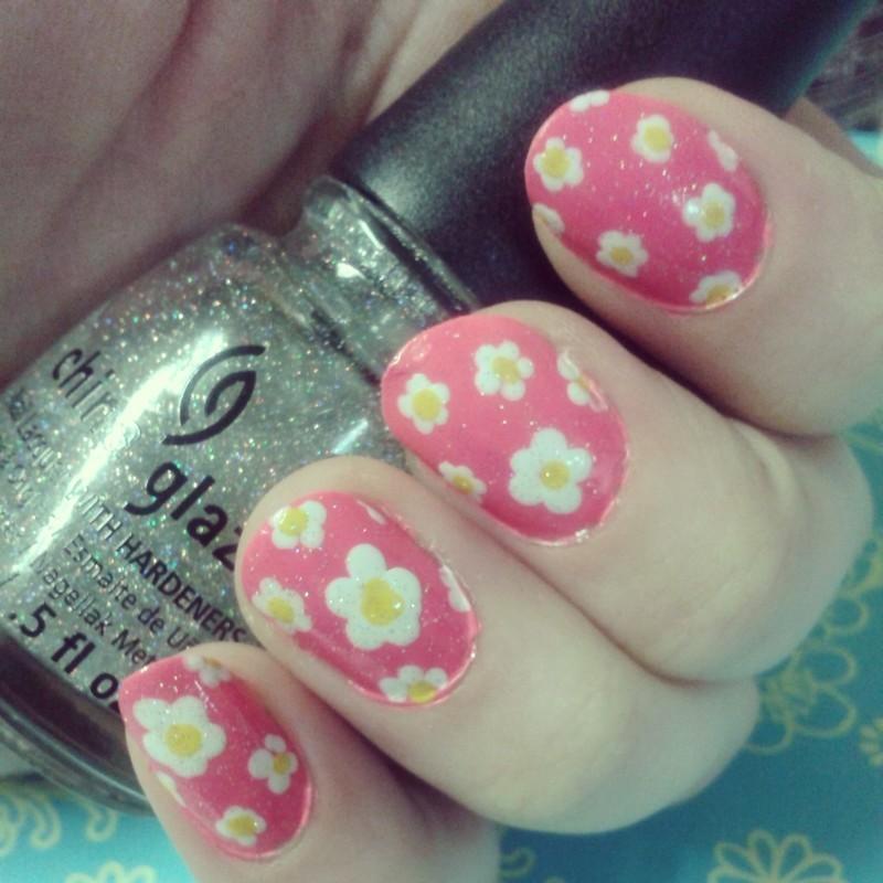 Floral Fun nail art by Ashley
