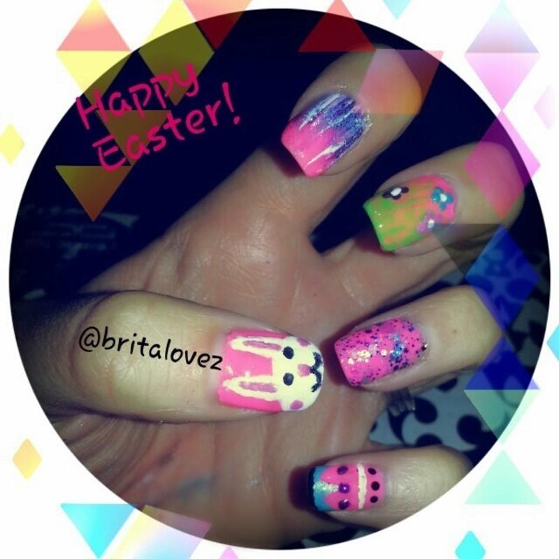 Happy Easter! nail art by britalovez