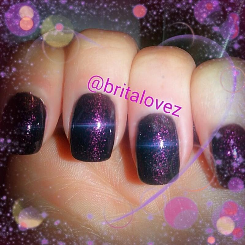 Black Amethyst nail art by britalovez