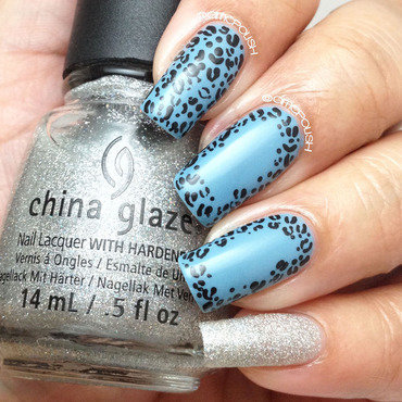Cheetah Blue for Autism Awareness nail art by Amber Connor