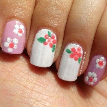 Spring Nails nail art by Avantika Dhir