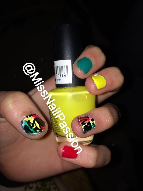 Reggae nails  nail art by MissNailPassion