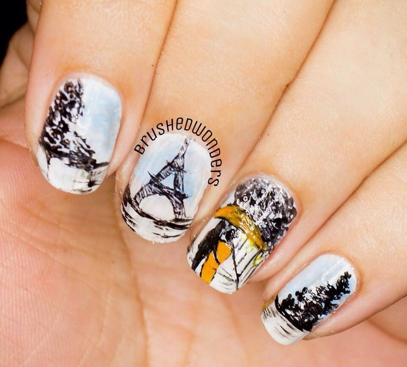 Love in Paris nail art by Kate