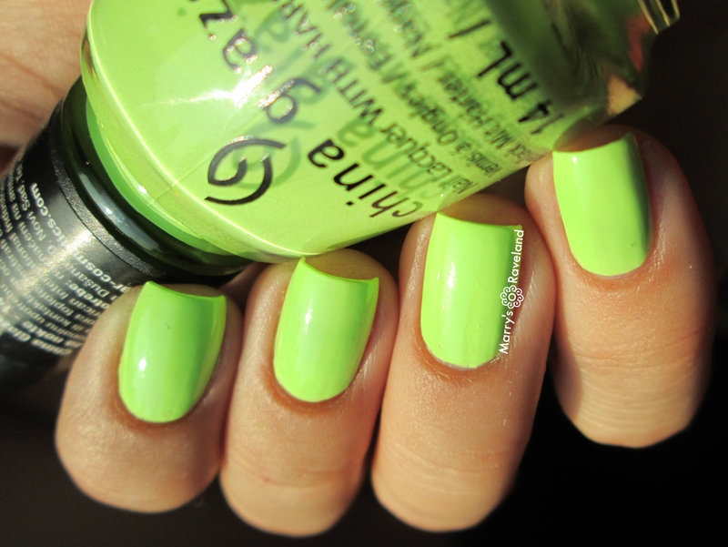 China Glaze grass is lime greener Swatch by Marina