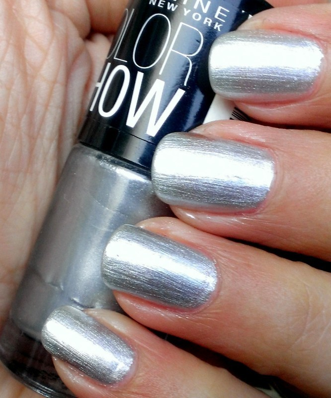Maybelline Color Show Silver Linings Swatch nail art by Avantika Dhir