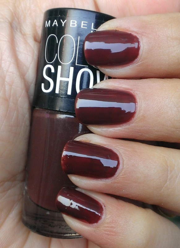 Maybelline Color Show Choco-Sin Swatch nail art by Avantika Dhir