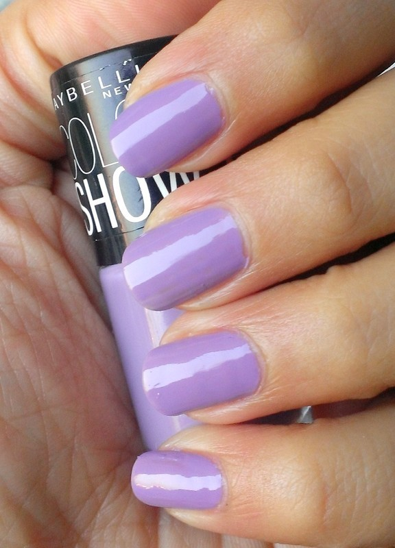 Maybelline Color Show Blackcurrant Pop Swatch nail art by Avantika Dhir